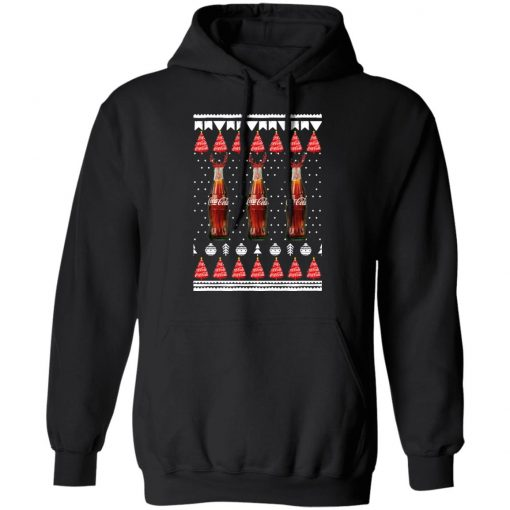 Coca Cola Bottles Funny Ugly Christmas Tree hoodie