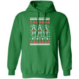 Coca Cola Bottles Art Drawing Funny Ugly Christmas Tree hoodie