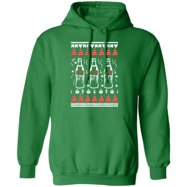 Coca Cola Bottles Art Drawing Funny Ugly Christmas Tree hoodie