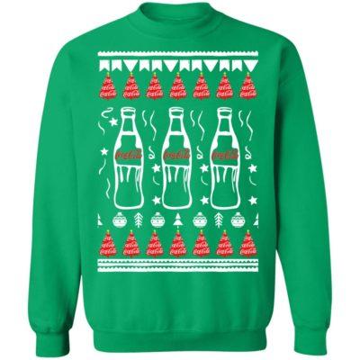 Coca Cola Bottles Art Drawing Funny Ugly Christmas Tree Sweatshirt