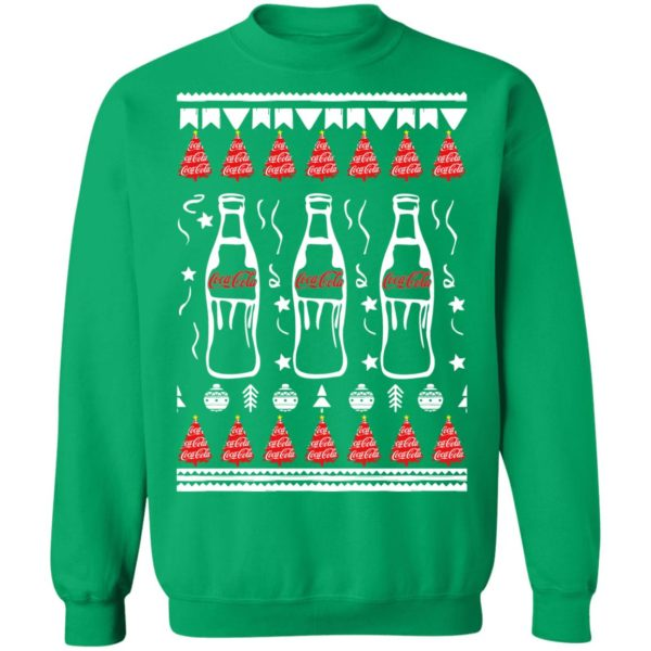Coca Cola Bottles Art Drawing Funny Ugly Christmas Tree Sweatshirt