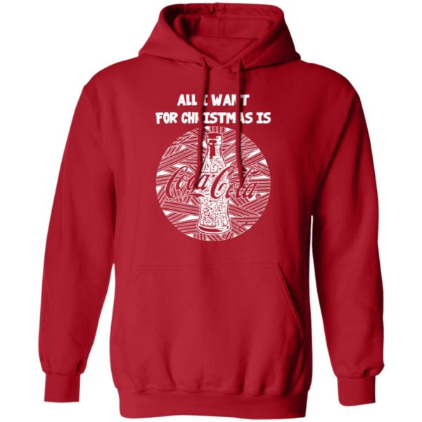 White All I Want For Christmas Is Coca Cola Christmas hoodie