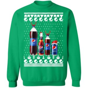Pepsi Bottles and Can Funny Ugly Christmas Sweatshirt