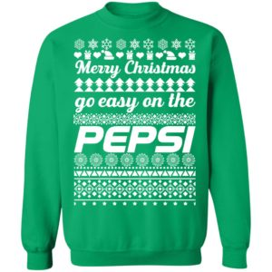 Merry Christmas Go Easy On The Pepsi Ugly Christmas Sweatshirt