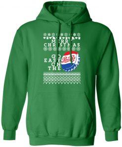 Merry Christmas Go Easy On The Pepsi Cola Ugly Christmas hoodie