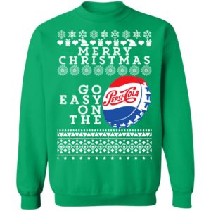 Merry Christmas Go Easy On The Pepsi Cola Ugly Christmas Sweatshirt