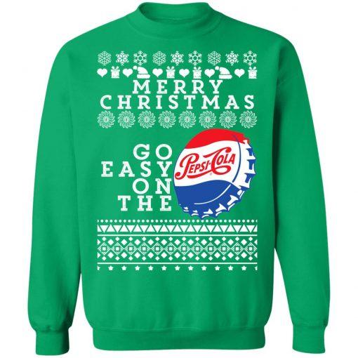 Merry Christmas Go Easy On The Pepsi Cola Ugly Christmas Sweatshirt