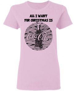 Black All I Want For Christmas Is Coca Cola Christmas