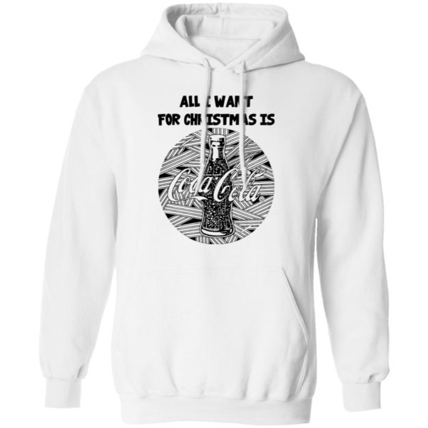 Black All I Want For Christmas Is Coca Cola Christmas hoodie