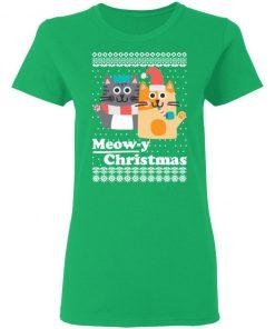 Cats Meowy Christmas Funny Christmas Ugly shirt