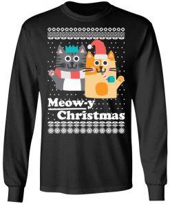 Cats Meowy Christmas Funny Christmas Ugly