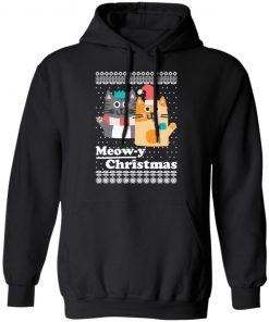 Cats Meowy Christmas Funny Christmas Ugly hoodie