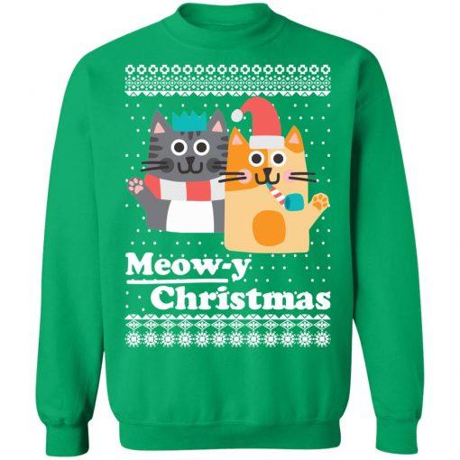 Cats Meowy Christmas Funny Christmas Ugly Sweatshirt