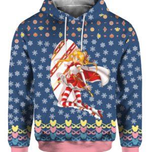Sailor Moon Anime 3D Print Ugly Christmas hoodie