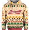 Budweiser Beer Bottle Funny Ugly Christmas Hoodie