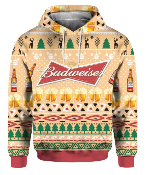 Budweiser Beer Bottle Funny Ugly Christmas Hoodie