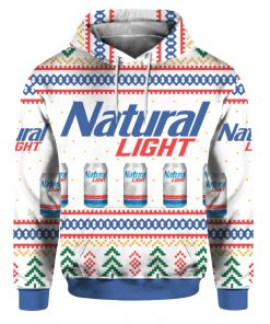 Natural Light Can Beer 3D Print Ugly Christmas hoodie