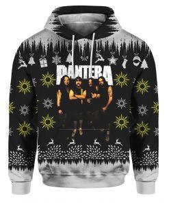 Pantera Band 3D Print Ugly Christmas hoodie