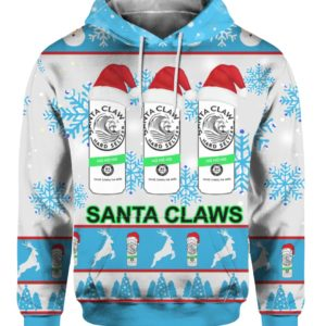 Santa Claws White Claw 3D Print Ugly Christmas hoodie