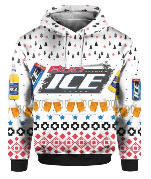 Bud Ice Beer 3D Print Ugly Christmas hoodie