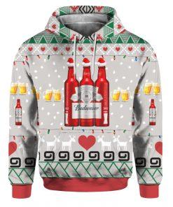 Budweiser Beer Red Bottles 3D Print Ugly Christmas hoodie