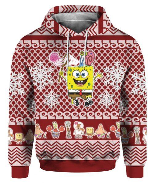 Spongebob Squarepants 3D Print Ugly Christmas hoodie