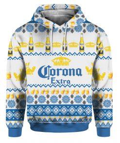 Corona Extra Beer Bottles 3D Print Ugly Christmas hoodie