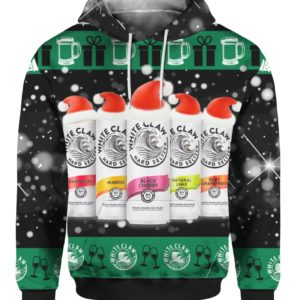 White Claw Santa Claws 3D Ugly Christmas hoodie