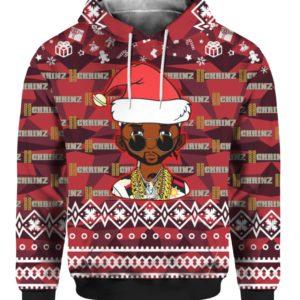 2 Chainz Santa 3D Print Ugly Christmas hoodie