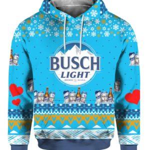 Busch Light Beer 3D Print Ugly Christmas Hoodie