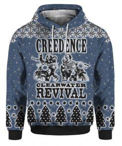 Creedence Clearwater Revival Rockband 3D Print Ugly Christmas hoodie