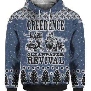 Creedence Clearwater Revival Rockband 3D Print Ugly Christmas hoodie