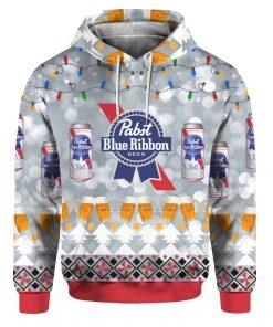 Pabst Blue Ribbon Beer 3D Print Ugly Christmas hoodie