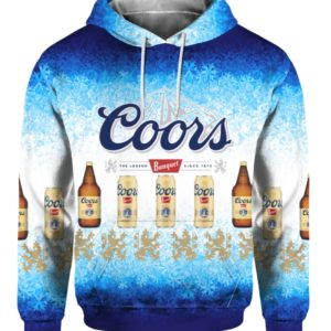 Coors Banquet Lager Beer 3D Print Ugly Christmas hoodie