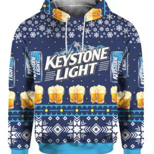Keystone Light Beer 3D Print Ugly Christmas hoodie