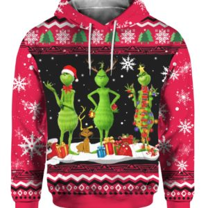 Tree Grinch 3D Print Ugly Christmas Hoodie