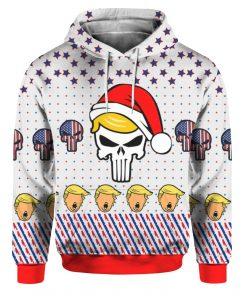 Trump Punisher 3D Print Christmas Ugly hoodie