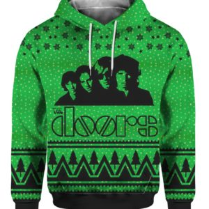 The Doors Band 3D Print Ugly Christmas hoodie