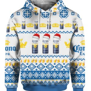 Corona Extra Beer Cans 3D Print Ugly Christmas hoodie