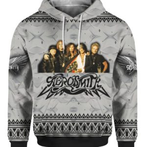 Aerosmith Band 3D Print Christmas Ugly hoodie