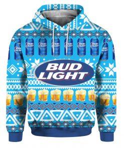 Bud Light Beer 3D Print Ugly Christmas hoodie