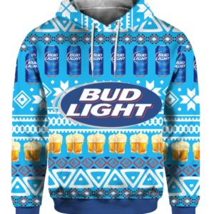 Bud Light Beer 3D Print Ugly Christmas hoodie