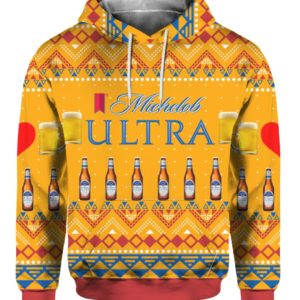 Michelob Ultra Beer Bottles 3D Print Ugly Christmas hoodie