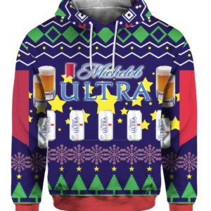 Michelob Ultra Beer Can 3D Print Ugly Christmas hoodie