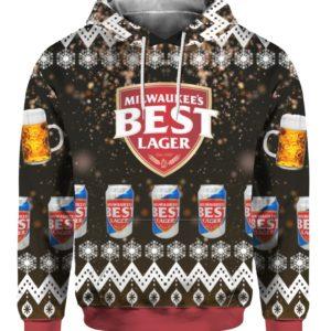 Milwaukees Best Lager Beer 3D Print Ugly Christmas hoodie