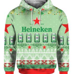 Heineken Beer 3D Print Ugly Christmas hoodie