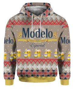 Modelo Especial Beer 3D Print Ugly Christmas Hoodie