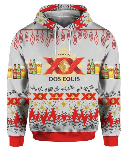 Dos Equis Beer 3D Print Ugly Christmas hoodie