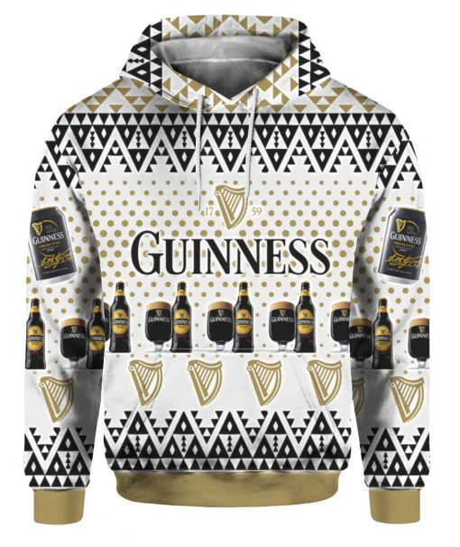 Guinness Beer 3D Print Ugly Christmas hoodie
