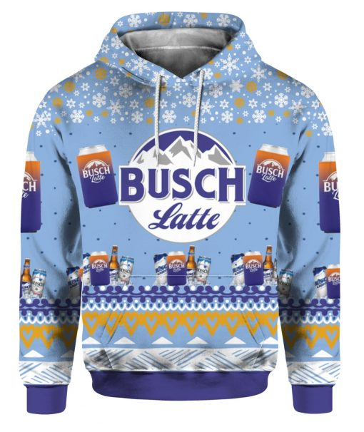 Busch Latte Beer 3D Print Ugly Christmas Hoodie